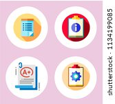 simple 4 icon set of note... | Shutterstock .eps vector #1134199085