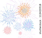 vector firework   Shutterstock .eps vector #113420518