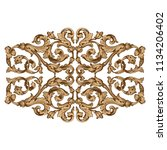 retro baroque decorations... | Shutterstock .eps vector #1134206402