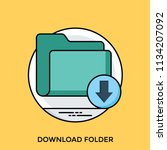 a file folder with downward... | Shutterstock .eps vector #1134207092