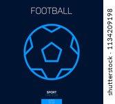 football ball line icon blue | Shutterstock .eps vector #1134209198