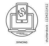 a smartphone having reversible... | Shutterstock .eps vector #1134211412