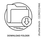 a file folder with downward... | Shutterstock .eps vector #1134211466