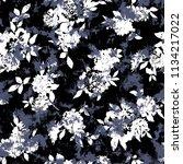 flower illustration pattern  i... | Shutterstock .eps vector #1134217022