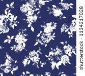 flower illustration pattern  i... | Shutterstock .eps vector #1134217028