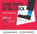 motivational speech event... | Shutterstock .eps vector #1134218345