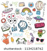set of design element and icon... | Shutterstock .eps vector #1134218762