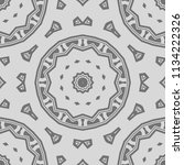 seamless floral geometric... | Shutterstock .eps vector #1134222326
