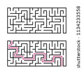 rectangular labyrinth with a... | Shutterstock .eps vector #1134233558