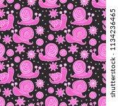 snails. doolde print. seamless... | Shutterstock .eps vector #1134236465