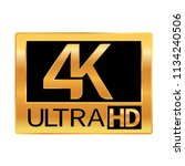4k ultra hd resolution icon for ...   Shutterstock .eps vector #1134240506