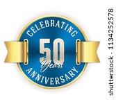 blue celebrating 50 years ...   Shutterstock .eps vector #1134252578