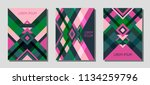 set of cover page layouts ... | Shutterstock .eps vector #1134259796