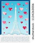 vector illustration love and... | Shutterstock .eps vector #1134263006