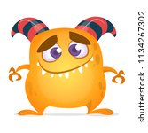 funny cartoon monster. vector... | Shutterstock .eps vector #1134267302