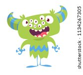 cartoon monster with many eyes. ... | Shutterstock .eps vector #1134267305