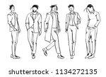 fashion man. set of fashionable ... | Shutterstock .eps vector #1134272135