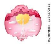 vector illustration love and... | Shutterstock .eps vector #1134272516
