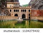 the galtaji hindu temple or...   Shutterstock . vector #1134275432