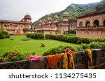 the galtaji hindu temple or... | Shutterstock . vector #1134275435