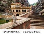 A Monkey Inside Galtaji Hindu...