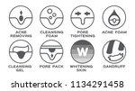 skin icon vector   acne... | Shutterstock .eps vector #1134291458