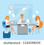 office life. working people.... | Shutterstock .eps vector #1134298535