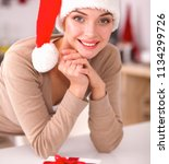 smiling young woman in the... | Shutterstock . vector #1134299726