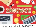 innovate concept vector design | Shutterstock .eps vector #1134300695