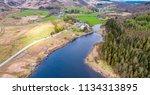aerial view of llynnau mymbyr...