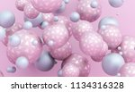 abstract 3d rendering of... | Shutterstock . vector #1134316328