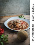 santol spicy thai salad | Shutterstock . vector #1134316532