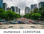 traffic in downtown mexico city ...   Shutterstock . vector #1134319166