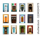 entrance doors. set of entrance ... | Shutterstock .eps vector #1134324575