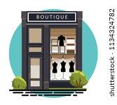 boutique facade. illustration... | Shutterstock .eps vector #1134324782