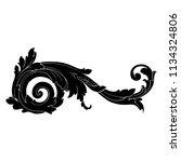 retro baroque decorations... | Shutterstock .eps vector #1134324806