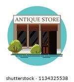antique store. antique shop.... | Shutterstock .eps vector #1134325538