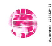 grunge halftone pink water polo ... | Shutterstock .eps vector #1134329438