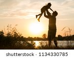 family of parents and children...   Shutterstock . vector #1134330785