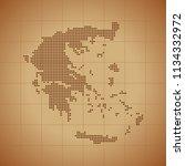 map of greece | Shutterstock .eps vector #1134332972