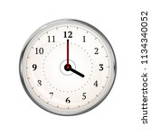 realistic clock face showing 04 ... | Shutterstock .eps vector #1134340052