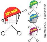 buy now sticker set | Shutterstock .eps vector #113434522