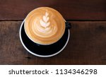cappuccino or latte with frothy ...   Shutterstock . vector #1134346298