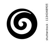 koru  maori symbol is a spiral... | Shutterstock .eps vector #1134348905
