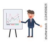 businessman pointing at... | Shutterstock .eps vector #1134350825