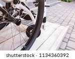 wheelchair. invalid chair. tire. | Shutterstock . vector #1134360392