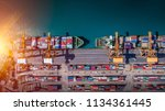 logistics and transportation of ... | Shutterstock . vector #1134361445