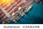 logistics and transportation of ... | Shutterstock . vector #1134361448