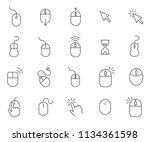 set of mouse related vector... | Shutterstock .eps vector #1134361598