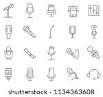 set of microphone related... | Shutterstock .eps vector #1134363608